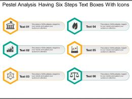 Pestel Analysis Having Six Steps Text Boxes With Icons