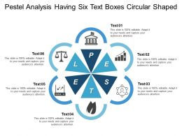 Pestel Analysis Having Six Text Boxes Circular Shaped