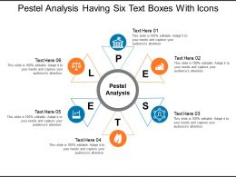 Pestel Analysis Having Six Text Boxes With Icons