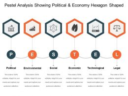 Pestel Analysis Showing Political And Economy Hexagon Shaped 7