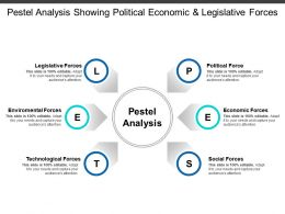 Pestel Analysis Showing Political Economic And Legislative Forces