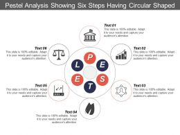 Pestel Analysis Showing Six Steps Having Circular Shaped