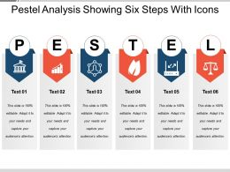 Pestel Analysis Showing Six Steps With Icons