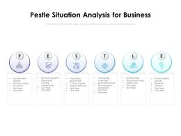 Pestle Situation Analysis For Business