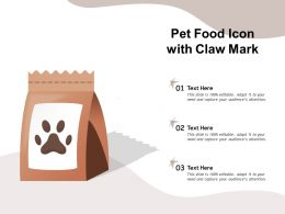 Pet Food Icon With Claw Mark