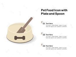 Pet Food Icon With Plate And Spoon