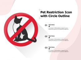 Pet Restriction Icon With Circle Outline