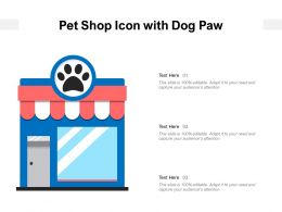 Pet Shop Icon With Dog Paw