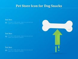 Pet Store Icon For Dog Snacks
