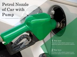 Petrol Nozzle Of Car With