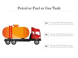 Petrol Or Fuel Or Gas Tank