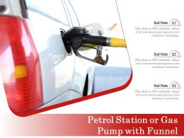Petrol Station Or Gas Pump With Funnel