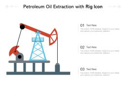 Petroleum Oil Extraction With Rig Icon
