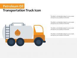 Petroleum Oil Transportation Truck Icon