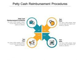 Petty Cash Reimbursement Procedures Ppt Powerpoint Presentation Portfolio Background Image Cpb
