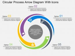pf_circular_process_arrow_diagram_with_icons_flat_powerpoint_design_Slide01