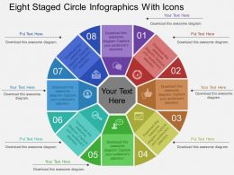 Pg Eight Staged Circle Infographics With Icons Flat Powerpoint Design
