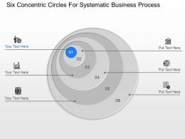 pg Six Concentric Circles For Systematic Business Process Powerpoint Template