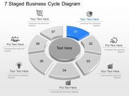 ph 7 Staged Business Cycle Diagram Powerpoint Template