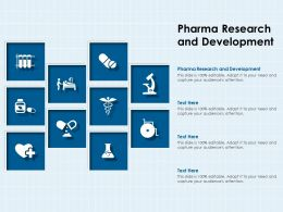 Pharma Research And Development Ppt Powerpoint Presentation Summary Designs