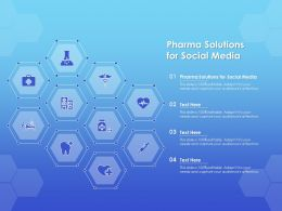 Pharma Solutions For Social Media Ppt Powerpoint Presentation Icon Grid