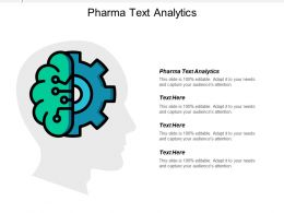 Pharma Text Analytics Ppt Powerpoint Presentation Ideas Gridlines Cpb