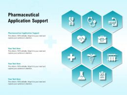 Pharmaceutical Application Support Ppt Powerpoint Presentation Gallery Templates