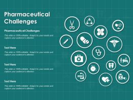Pharmaceutical Challenges Ppt Powerpoint Presentation File Clipart Images