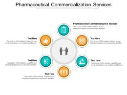 Pharmaceutical Commercialization Services Ppt Powerpoint Presentation Portfolio Format Ideas Cpb