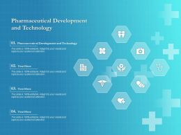 Pharmaceutical Development And Technology Ppt Powerpoint Presentation File Formats