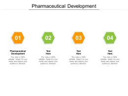 Pharmaceutical Development Ppt Powerpoint Presentation Inspiration Guide Cpb