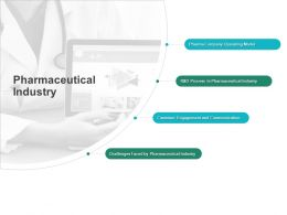 Pharmaceutical Industry Communication Ppt Powerpoint Presentation Model Grid
