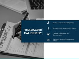 Pharmaceutical Industry Engagement Communication Ppt Presentation Visual Aids Outline