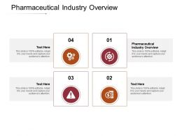 Pharmaceutical Industry Overview Ppt Powerpoint Presentation Summary Ideas Cpb