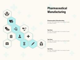 Pharmaceutical Manufacturing Ppt Powerpoint Presentation Slides Samples
