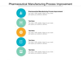Pharmaceutical Manufacturing Process Improvement Ppt Powerpoint Presentation File Portrait Cpb