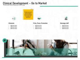 Pharmaceutical Marketing Clinical Development Go To Market Ppt Powerpoint Presentation Ideas