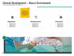 Pharmaceutical Marketing Clinical Development Macro Environment Ppt Powerpoint Presentation Styles