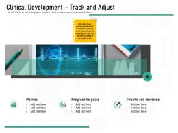 Pharmaceutical Marketing Clinical Development Track And Adjust Ppt Powerpoint Presentation Icon Good