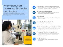 Pharmaceutical Marketing Strategies And Tactics Physicians Ppt Powerpoint Presentation File