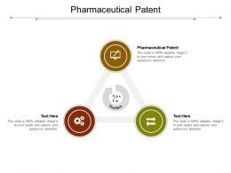 Pharmaceutical Patent Ppt Powerpoint Presentation Slides Influencers Cpb