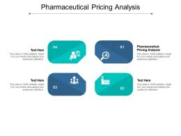 Pharmaceutical Pricing Analysis Ppt Powerpoint Presentation Slides Cpb
