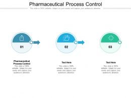 Pharmaceutical Process Control Ppt Powerpoint Presentation Infographic Template Cpb