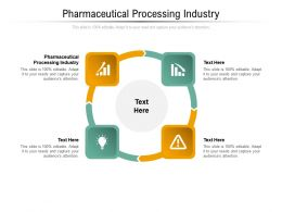 Pharmaceutical Processing Industry Ppt Powerpoint Presentation Infographics Graphics Cpb
