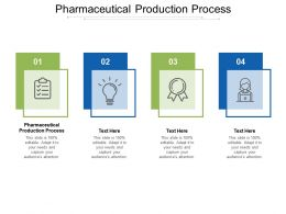 Pharmaceutical Production Process Ppt Powerpoint Presentation Infographic Template Introduction Cpb