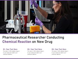 Pharmaceutical Researcher Conducting Chemical Reaction On New Drug