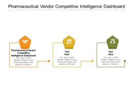 Pharmaceutical Vendor Competitive Intelligence Dashboard Ppt Powerpoint Presentation Gallery Icon Cpb