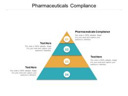 Pharmaceuticals Compliance Ppt Powerpoint Presentation Show Graphics Cpb