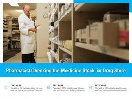 Pharmacist Checking The Medicine Stock In Drug Store