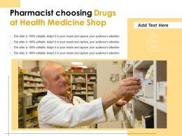 Pharmacist Choosing Drugs At Health Medicine Shop